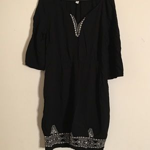 Women's Old Navy dress black embroidery L juniors